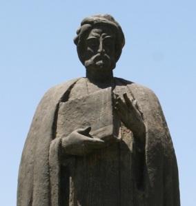 Patung Ibnu Khaldun. Gambar dari Wikipedia.